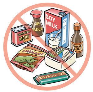 Thực phẩm cần tránh khi dị ứng đậu nành