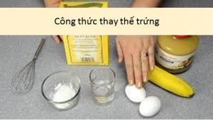 Công thức thay thế trứng