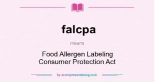 FALCPA Luật Ghi nhãn Thực phẩm Dị ứng và Bảo vệ Người tiêu dùng của Mỹ