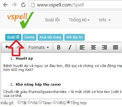 vspell kiểm tra lỗi chính tả tiếng việt online