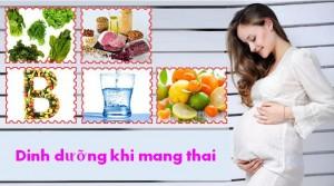 dinh duong khi mang thai