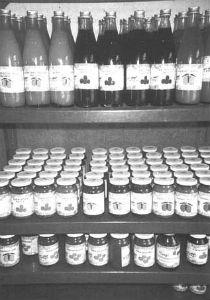 Sản phẩm trưng bày trong bình/lọ thủy tinh