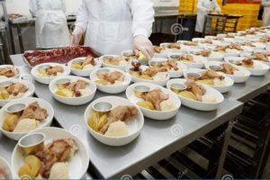 Quy trình sản xuất bữa ăn dùng trên máy bay